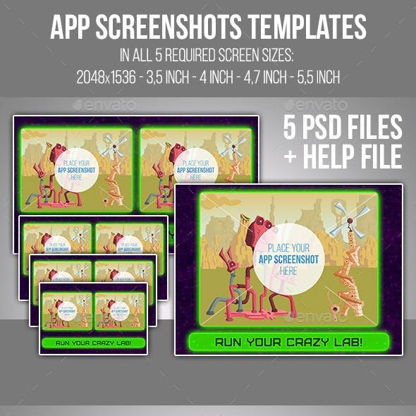 App Screenshots Templates Set #13