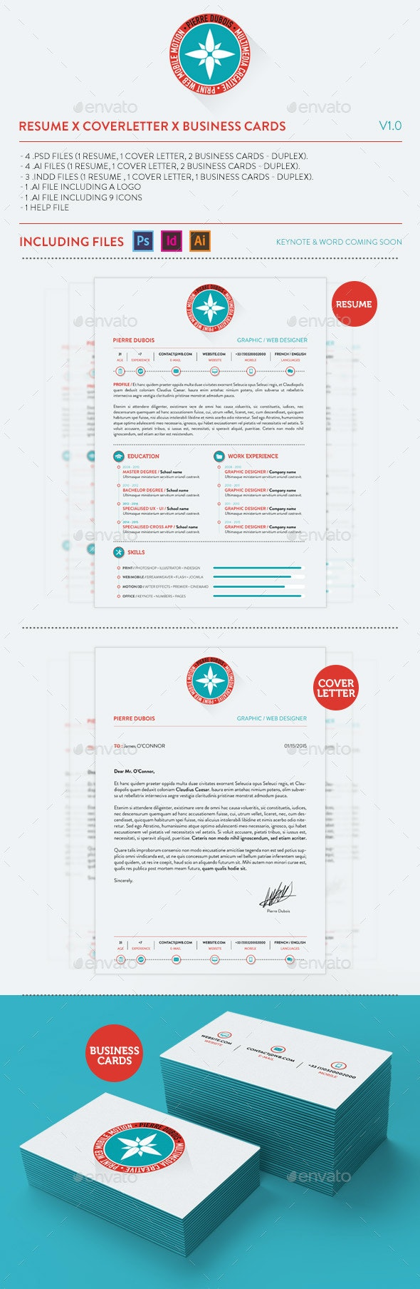 Resume X Coverletter X Business Cards By Mockupbank Graphicriver