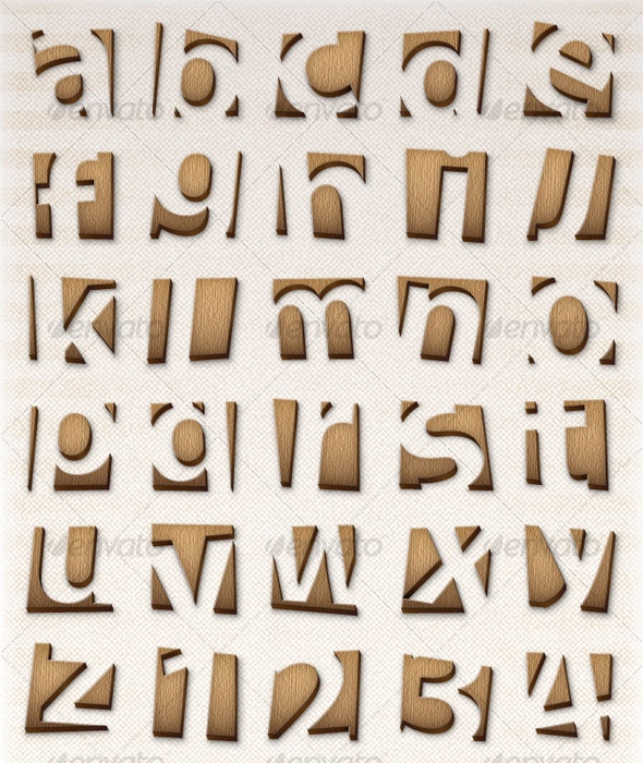 Wooden Letters, Numbers and Signs - Miscellaneous Vectors
