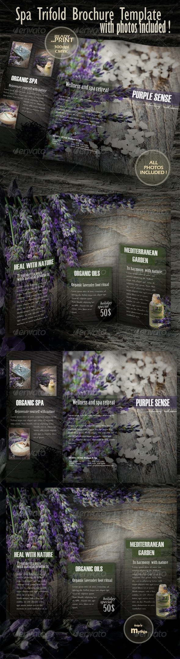 Spa & Wellness Trifold Brochure - Catalogs Brochures
