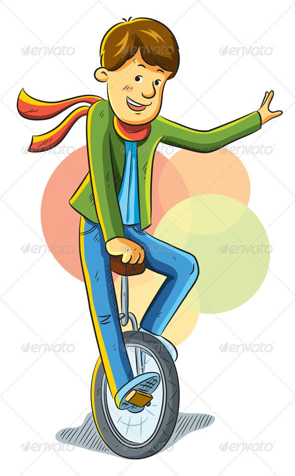Unicycle Boy - People Characters