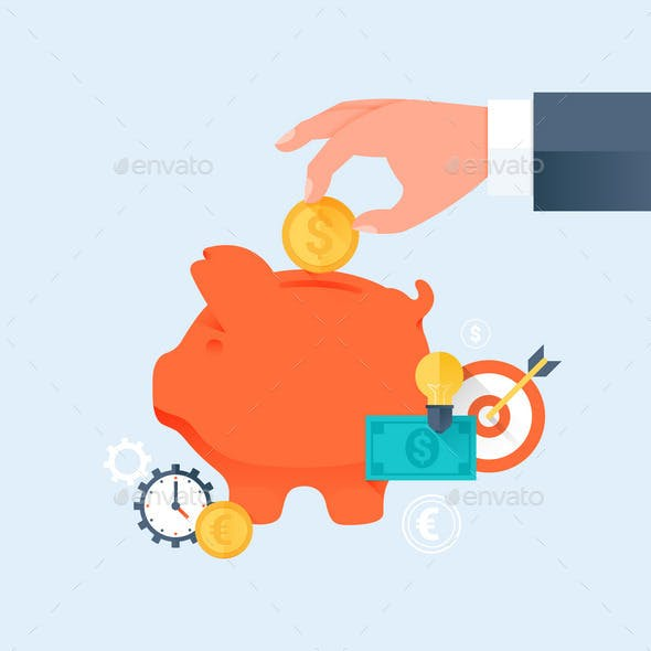 Saving Money and Investment Business Concept