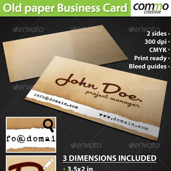 Old Paper Card Design