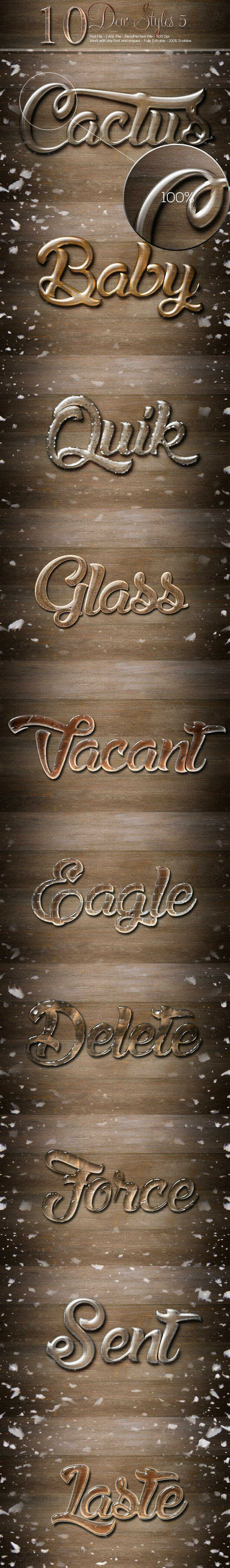 10 Dew Styles 5 - Text Effects Styles