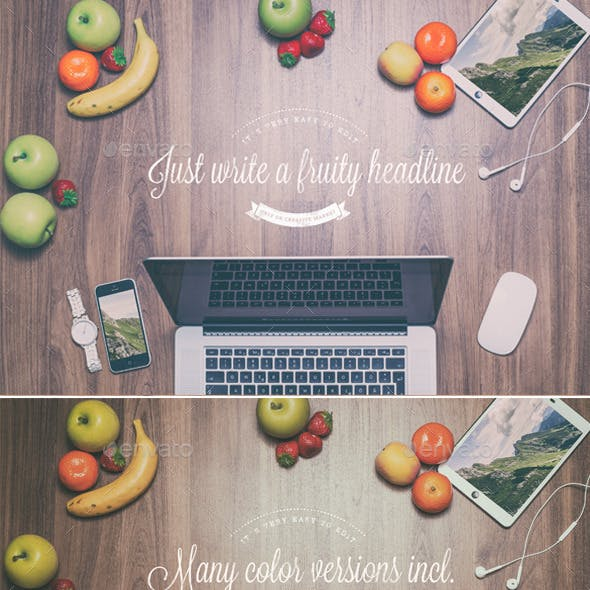 Fruity Header Images - Mock Up