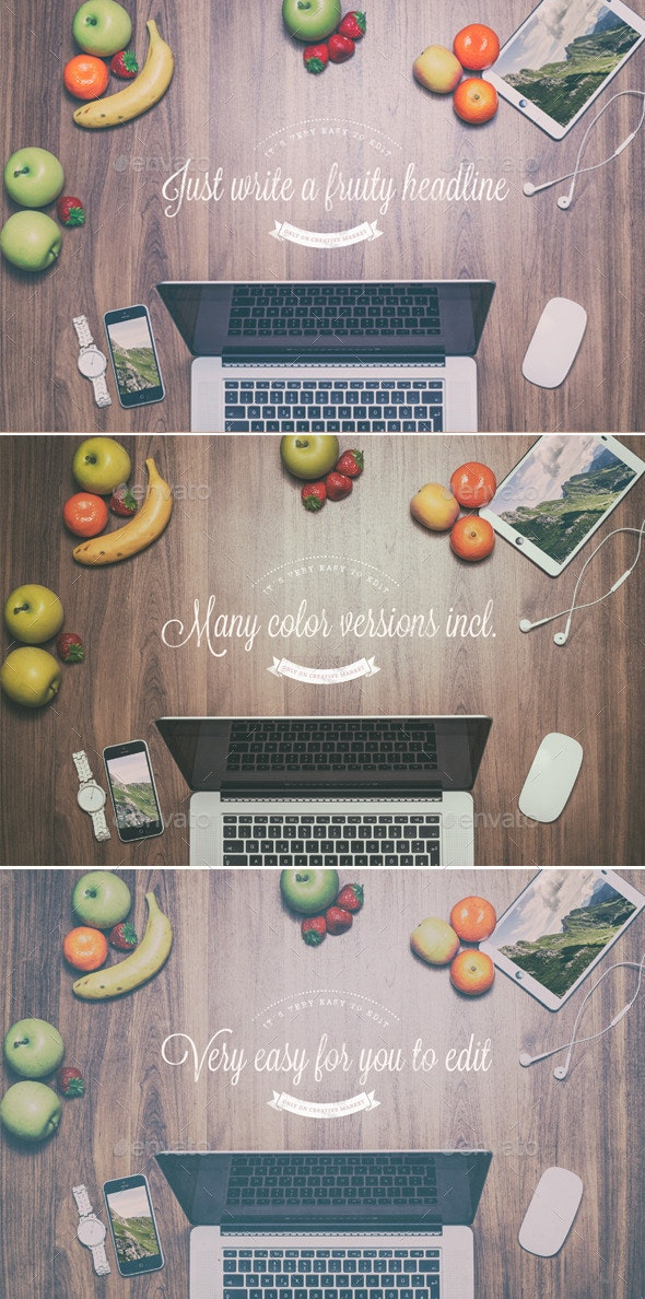 Fruity Header Images - Mock Up - Hero Images Graphics