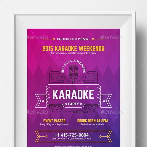 Karaoke Party Poster Template