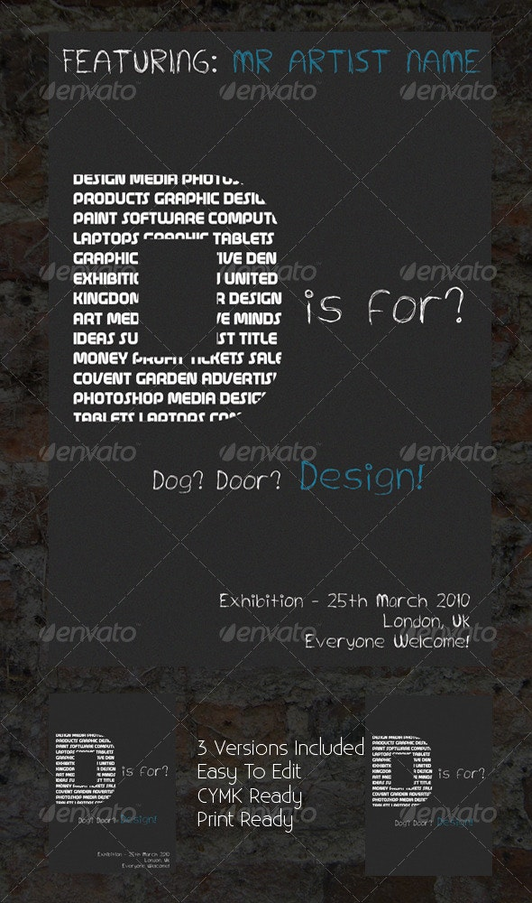 D is For? Design! Exhibition Poster - Miscellaneous Events