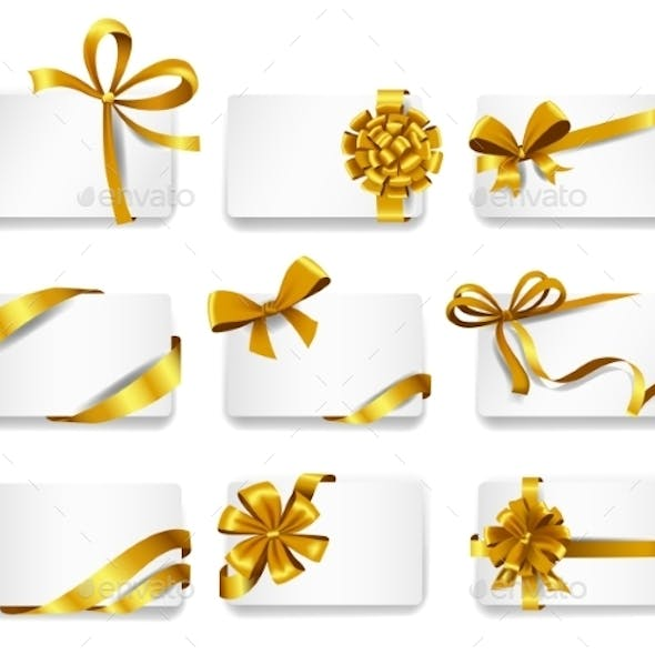Cards with Gold Bows