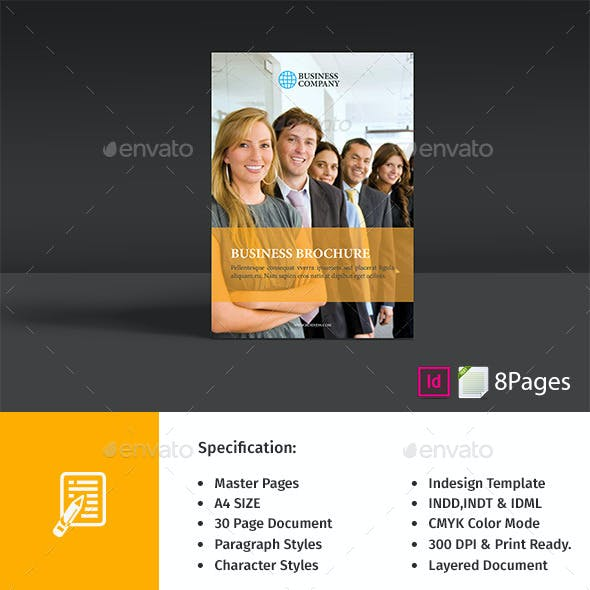 8 Page Business Brochure Teamplate