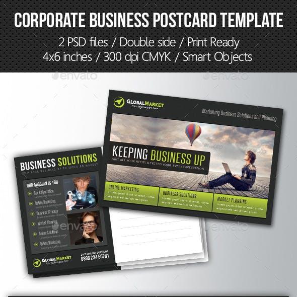 Corporate Business Postcard Template V02