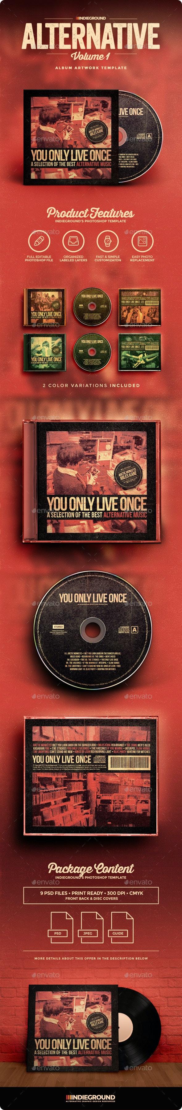Alternative CD Album Artwork - CD & DVD Artwork Print Templates