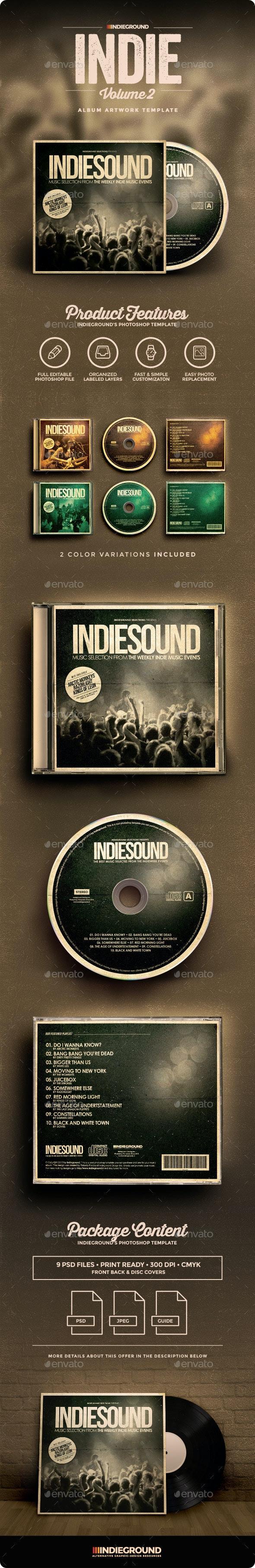 Indie CD Album Artwork Vol. 2 - CD & DVD Artwork Print Templates