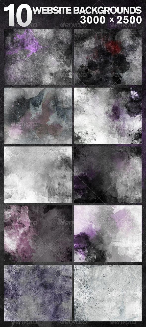 10 Web Backgrounds - 3000x2500 - Miscellaneous Web Elements