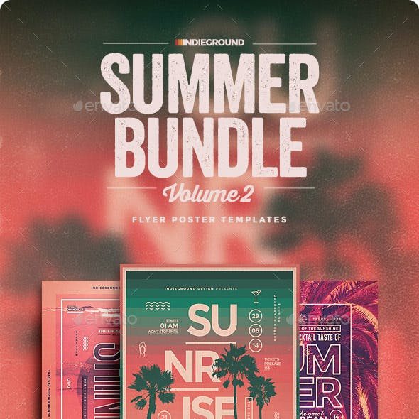Summer Flyer/Poster Bundle Vol. 4-6