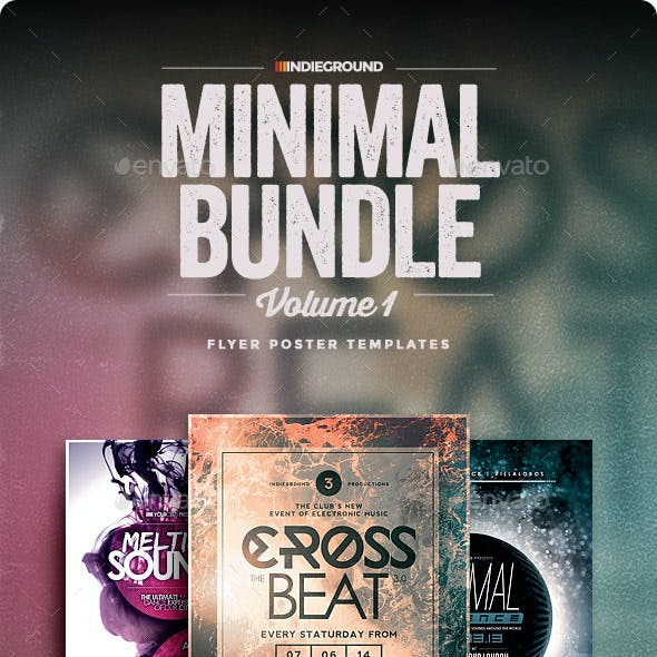 Minimal Flyer/Poster Bundle Vol. 1-3