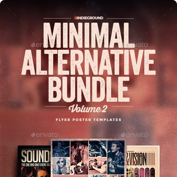 Minimal Alternative Flyer/Poster Bundle Vol. 4-6