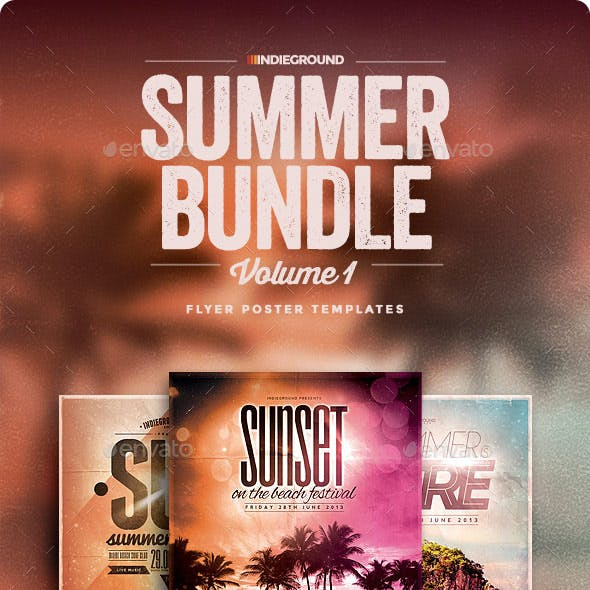 Summer Flyer/Poster Bundle Vol. 1-3