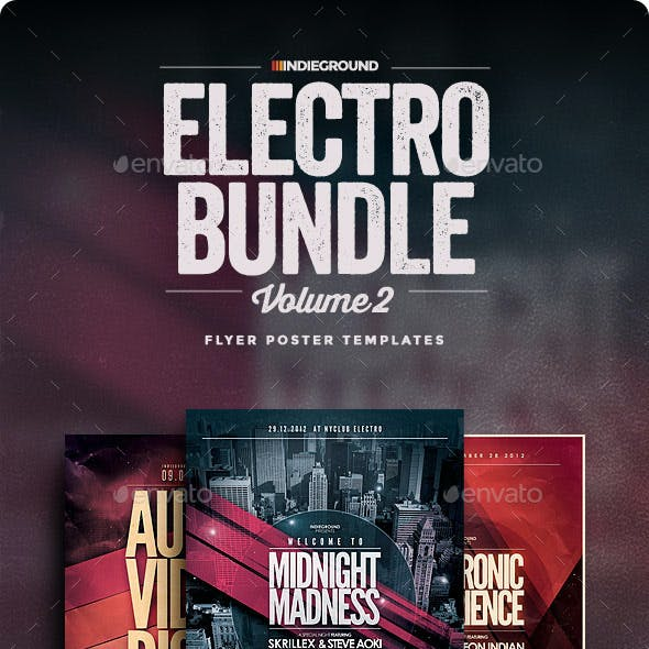 Electro Flyer/Poster Bundle Vol. 4-6