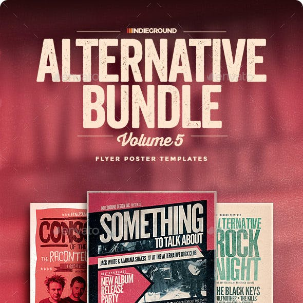 Alternative Flyer/Poster Bundle Vol. 13-15