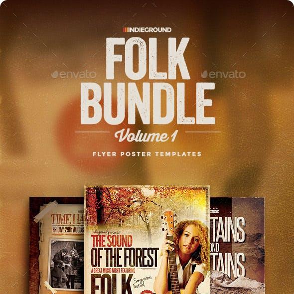 Folk Flyer/Poster Bundle Vol. 1-3