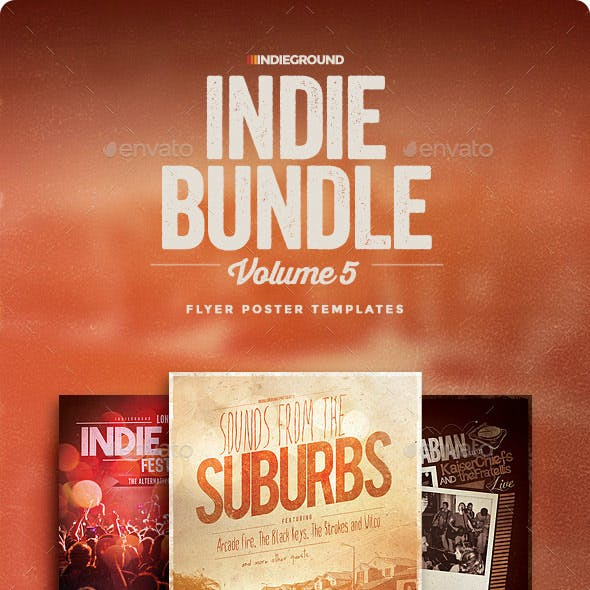 Indie Flyer/Poster Bundle Vol. 13-15