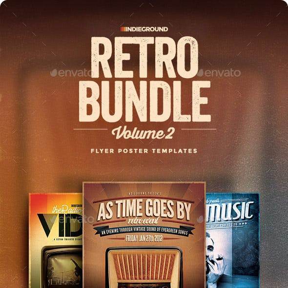Retro Flyer/Poster Bundle Vol. 4-6