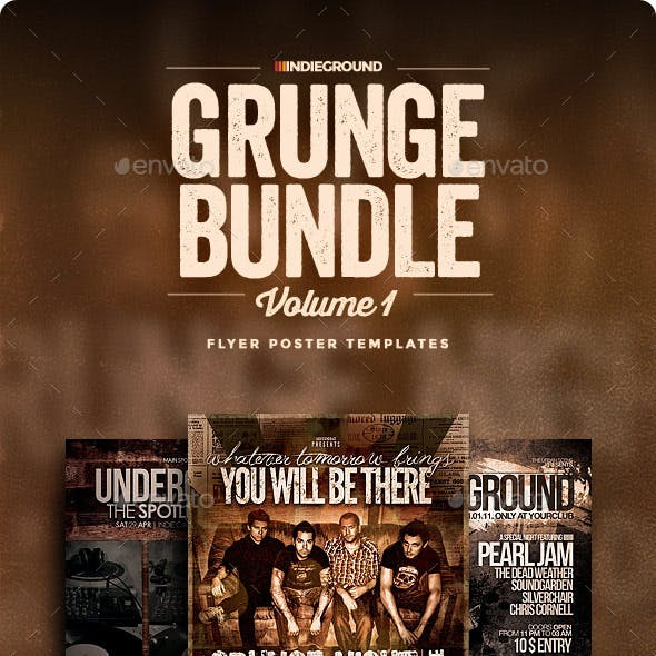 Grunge Flyer/Poster Bundle Vol. 1-3