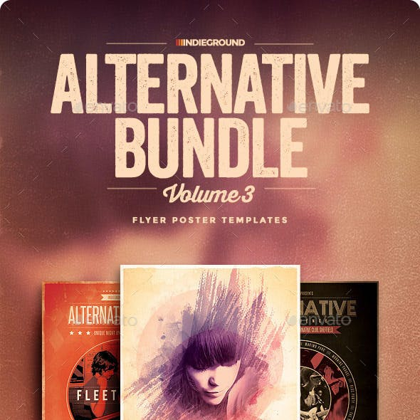Alternative Flyer/Poster Bundle Vol. 7-9