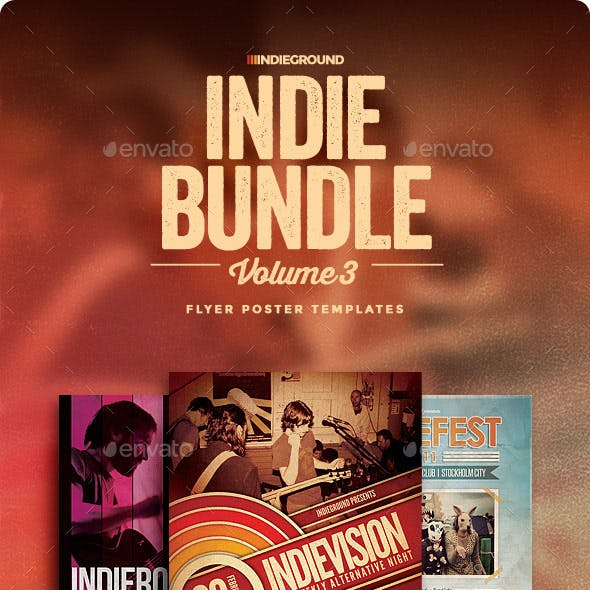Indie Flyer/Poster Bundle Vol. 7-9