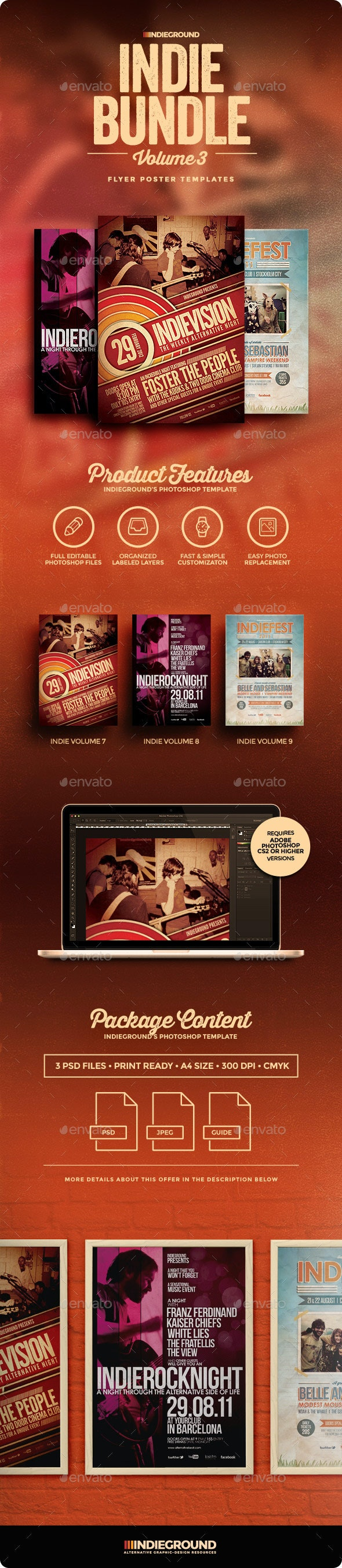 Indie Flyer/Poster Bundle Vol. 7-9 - Clubs & Parties Events