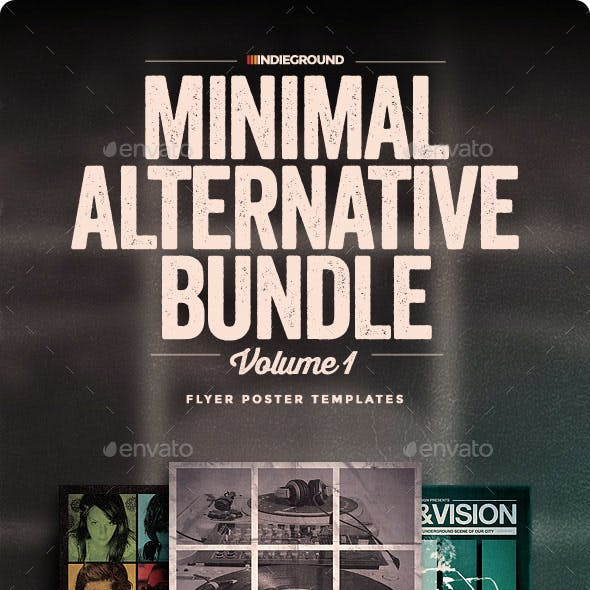 Minimal Alternative Flyer/Poster Bundle Vol. 1-3