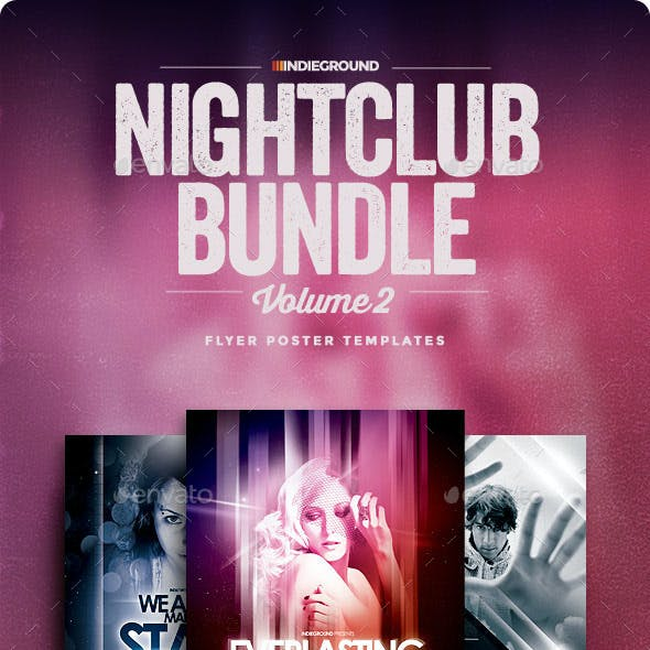 Nightclub Flyer/Poster Bundle Vol. 4-6