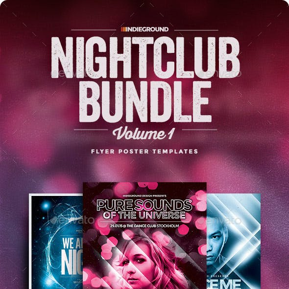 Nightclub Flyer/Poster Bundle Vol. 1-3