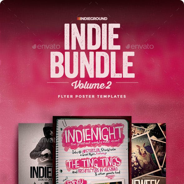 Indie Flyer/Poster Bundle Vol. 4-6