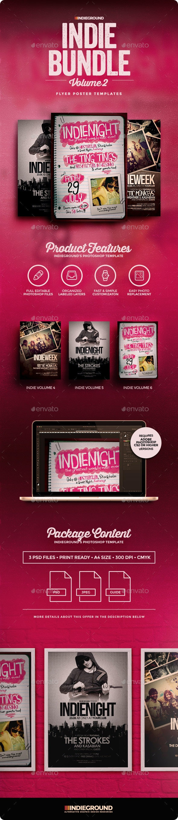 Indie Flyer/Poster Bundle Vol. 4-6 - Clubs & Parties Events