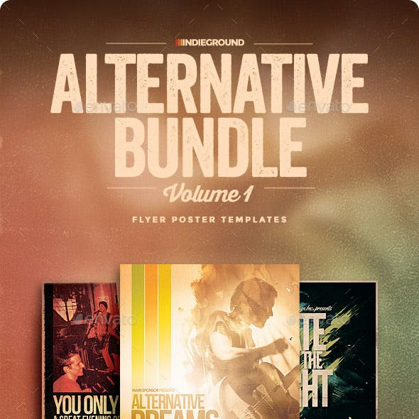 Alternative Flyer/Poster Bundle Vol. 1-3