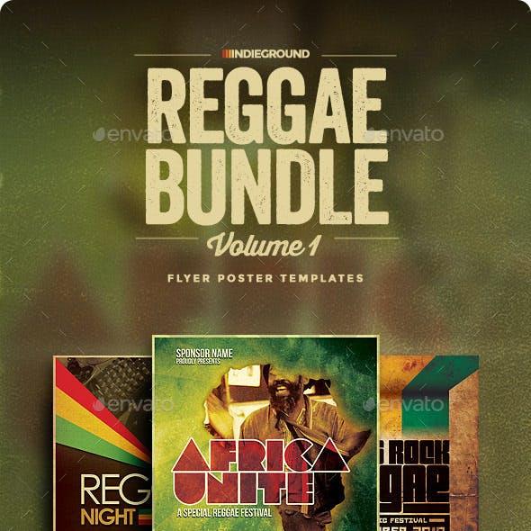 Reggae Flyer/Poster Bundle Vol. 1-3