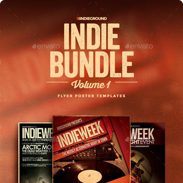 Indie Flyer/Poster Bundle Vol. 1-3
