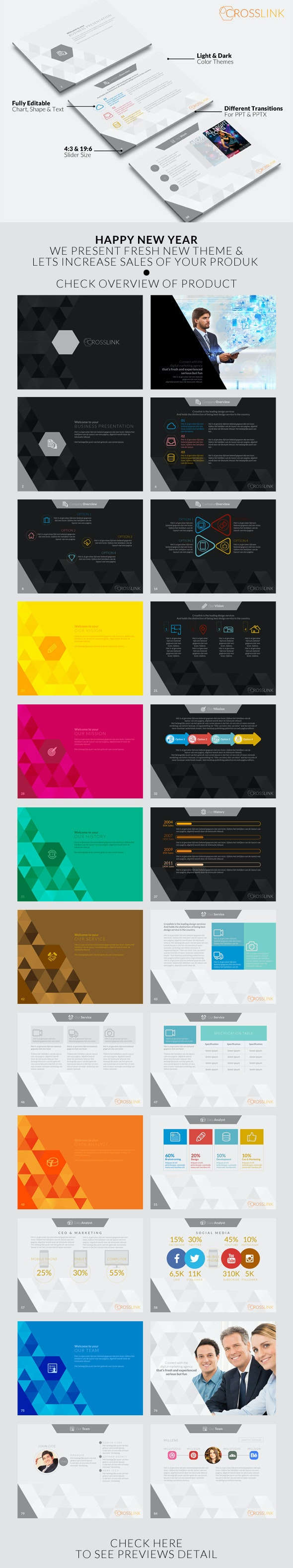 Crosslink Powerpoint Template - PowerPoint Templates Presentation Templates