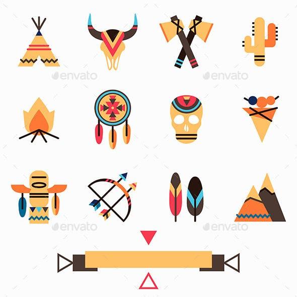 Tribal Icons Set