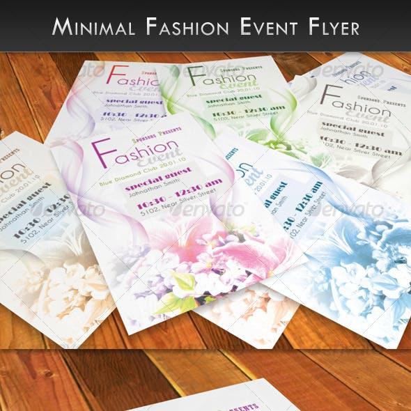 Minimal Fashion Event Flyer
