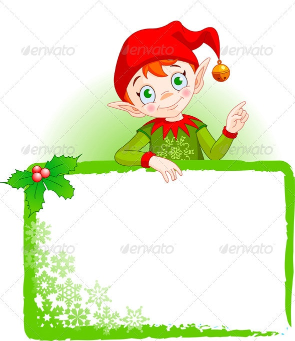 Christmas Elf Invite & Place Card - Christmas Seasons/Holidays