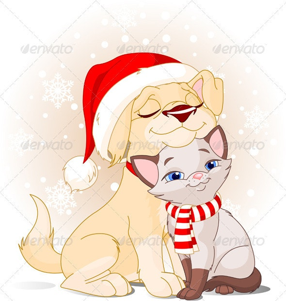 Christmas friends   - Characters Vectors