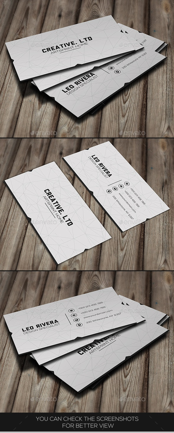 White Minimal Business Card - Creative Business Cards