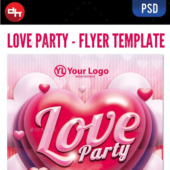 Valentine's Love Party Flyer