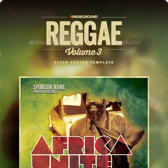 Africa Unite - Reggae Flyer/Poster Vol. 3