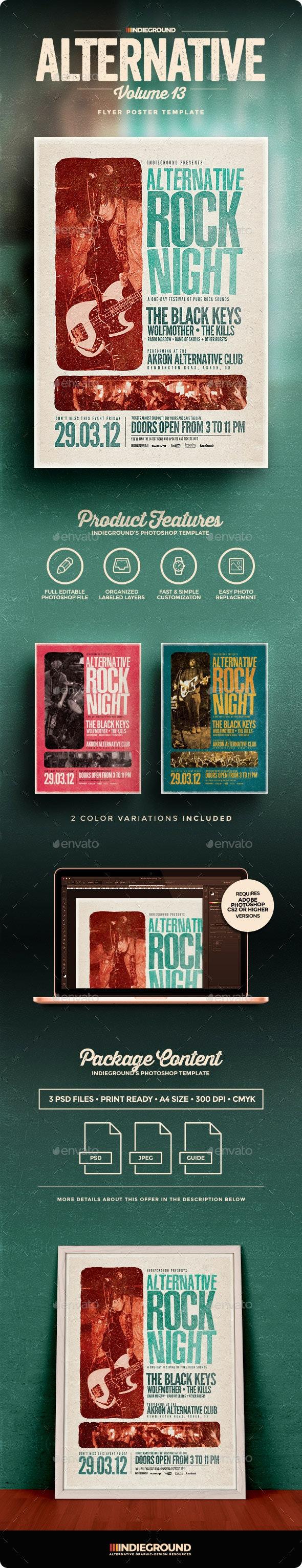 Alternative Flyer/Poster Vol. 13 - Concerts Events