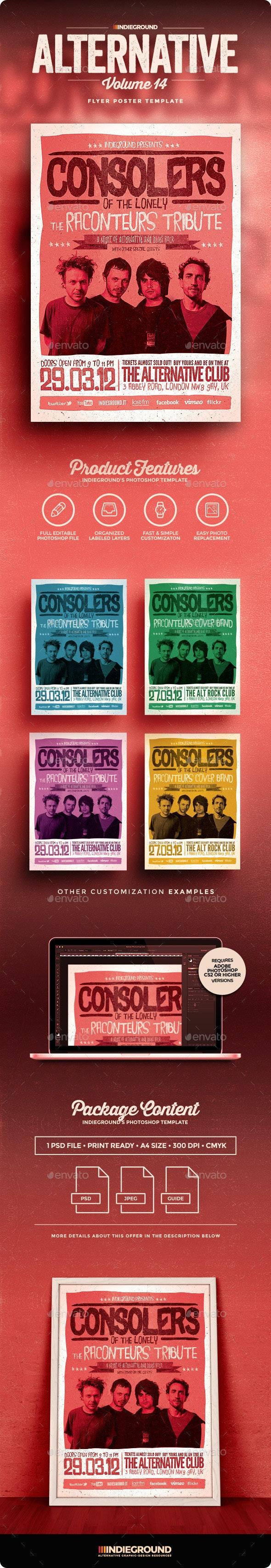 Alternative Flyer/Poster Vol. 14 - Concerts Events