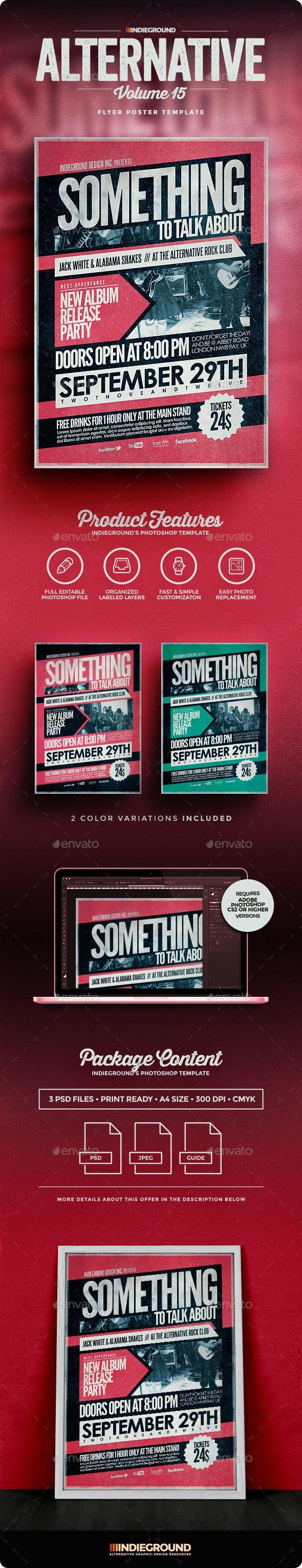 Alternative Flyer/Poster Vol. 15 - Concerts Events